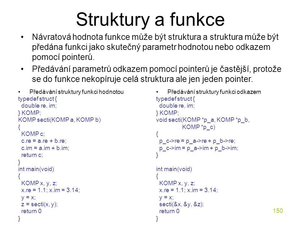 Struktury a funkce