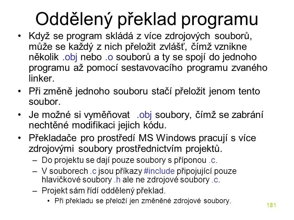 Oddělený překlad programu