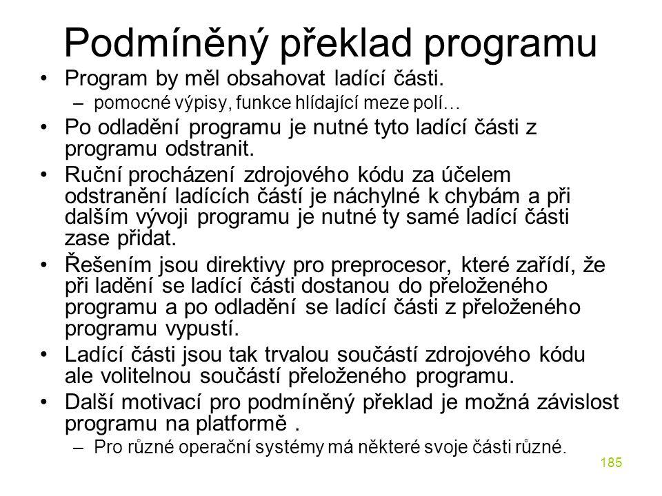 Podmíněný překlad programu
