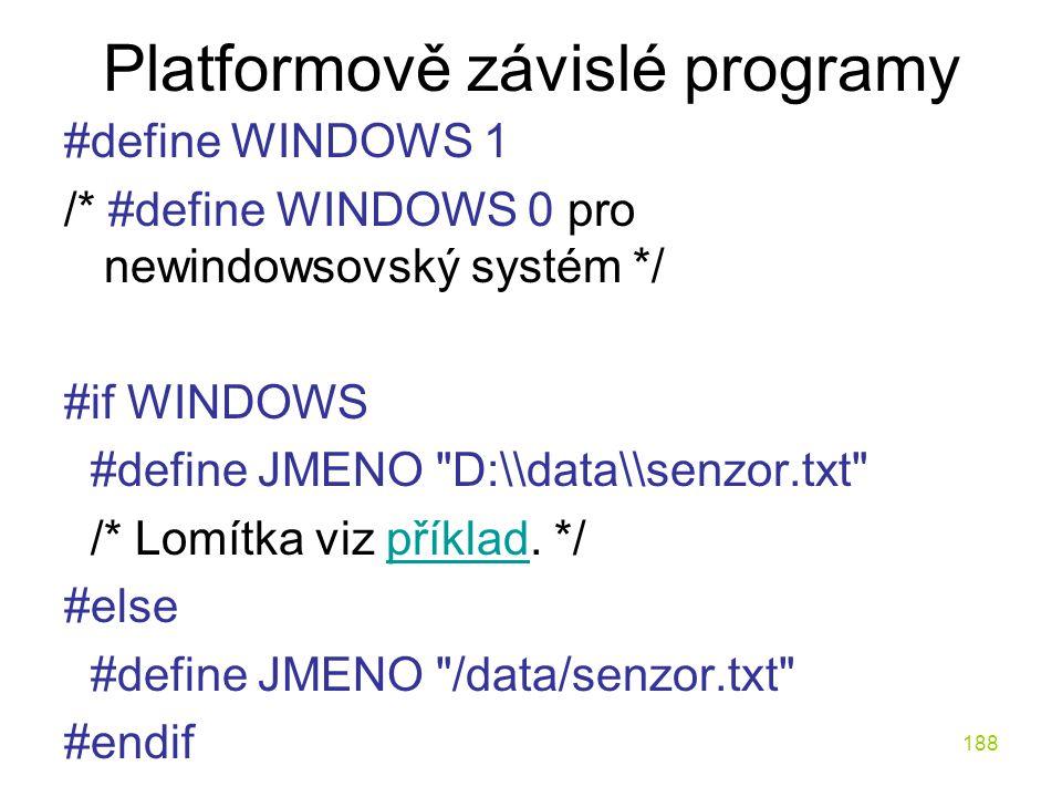 Platformově závislé programy