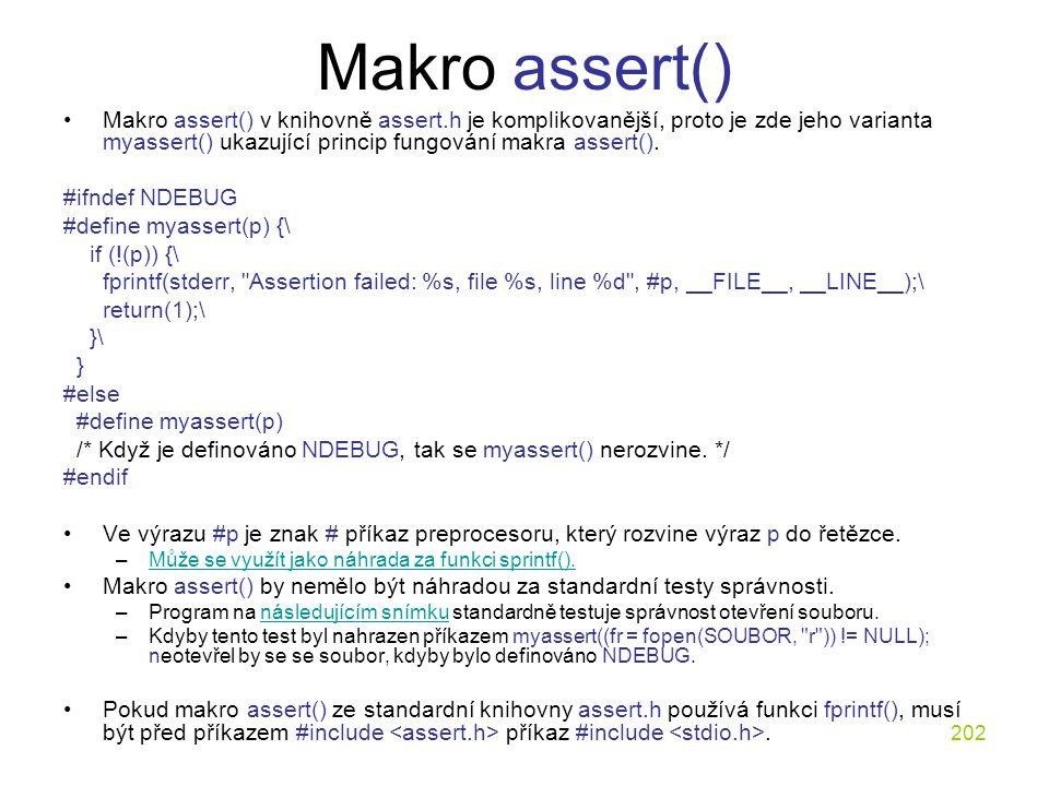 Makro assert()