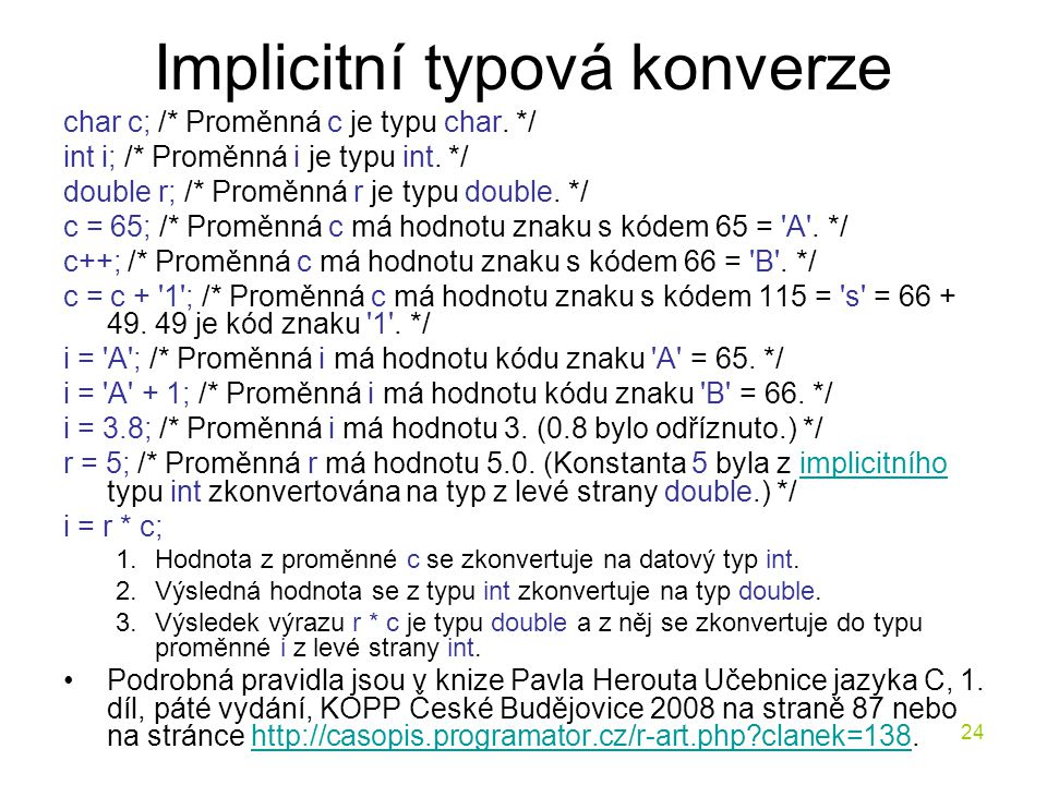 Implicitní typová konverze