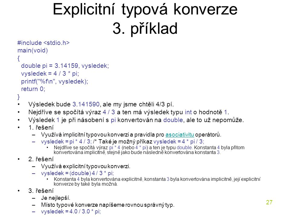 Explicitní typová konverze 3. příklad