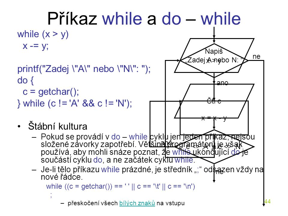 Příkaz while a do – while