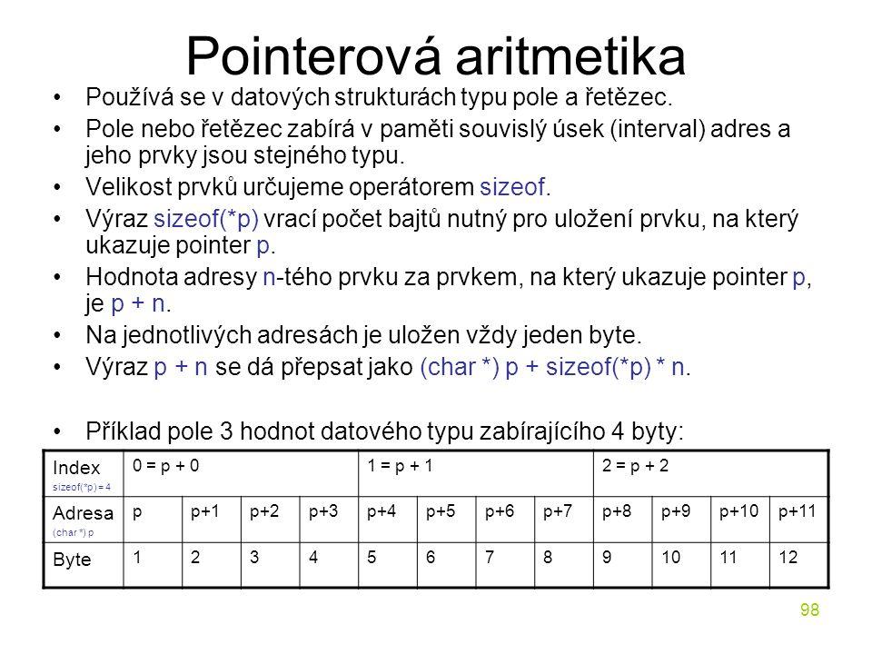Pointerová aritmetika