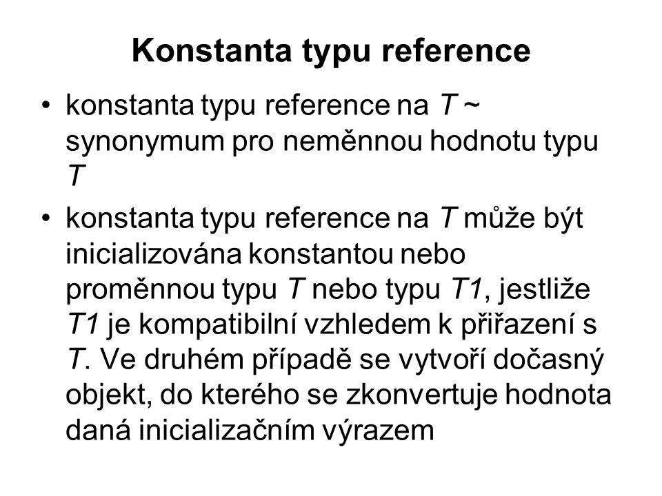 Konstanta typu reference