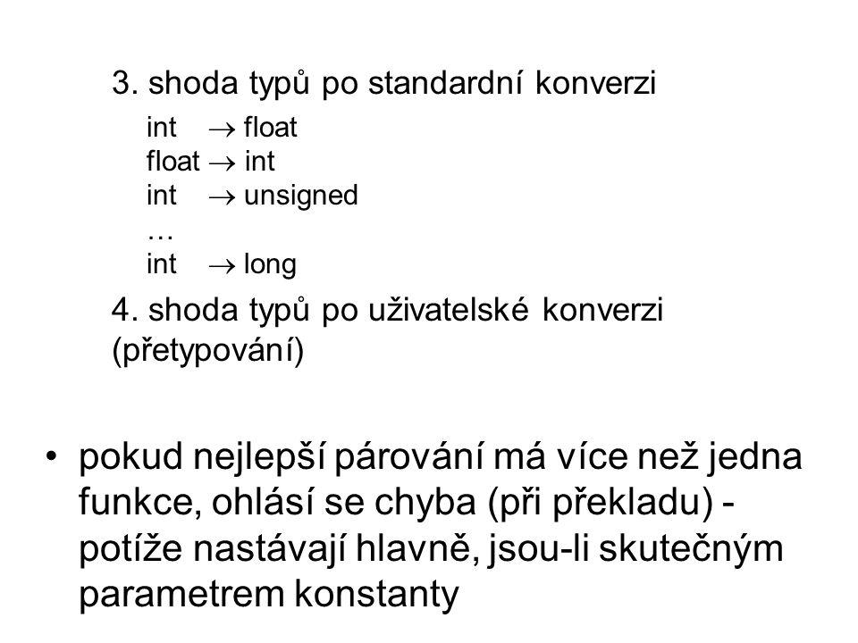 3. shoda typů po standardní konverzi