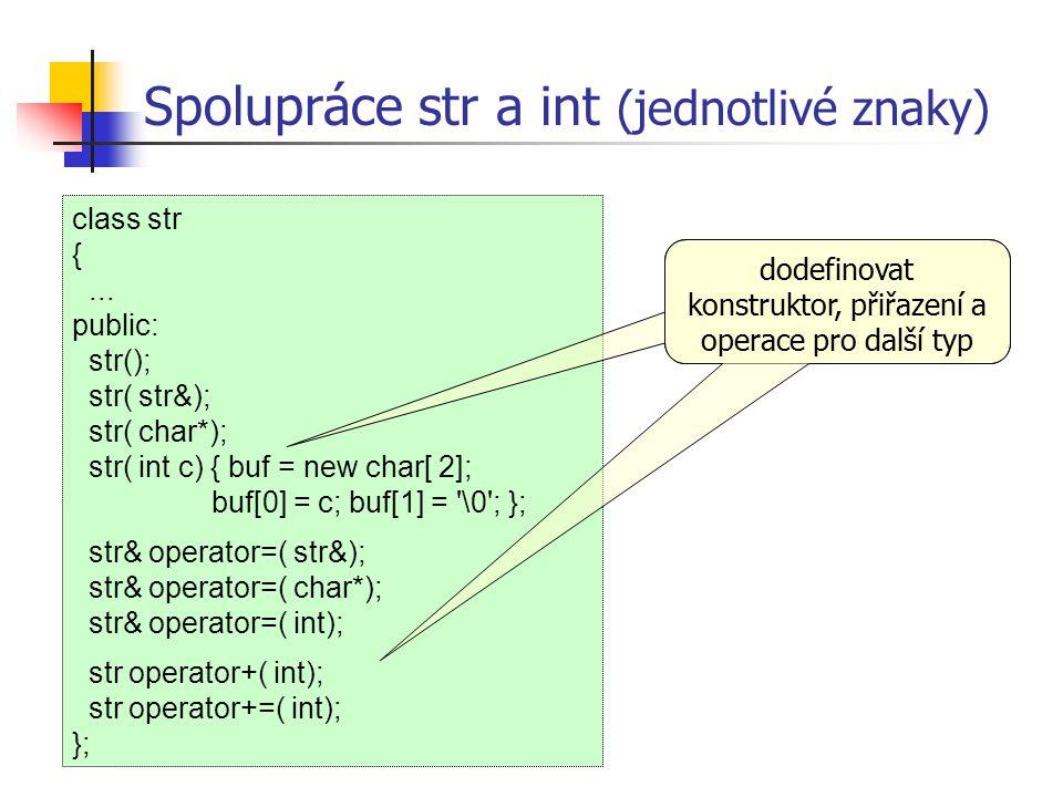 Spolupráce str a int (jednotlivé znaky)