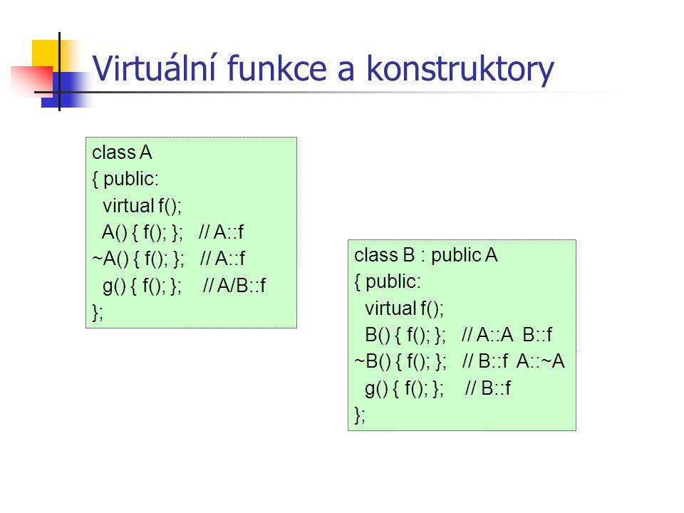 Virtuální funkce a konstruktory