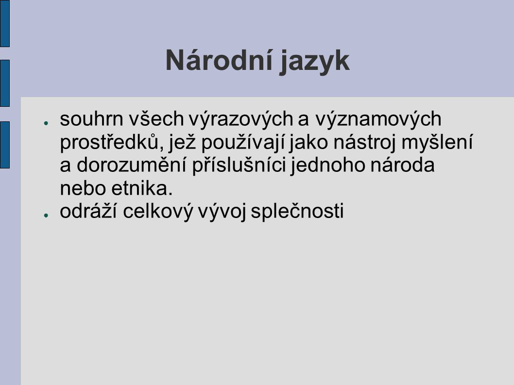 Národní jazyk