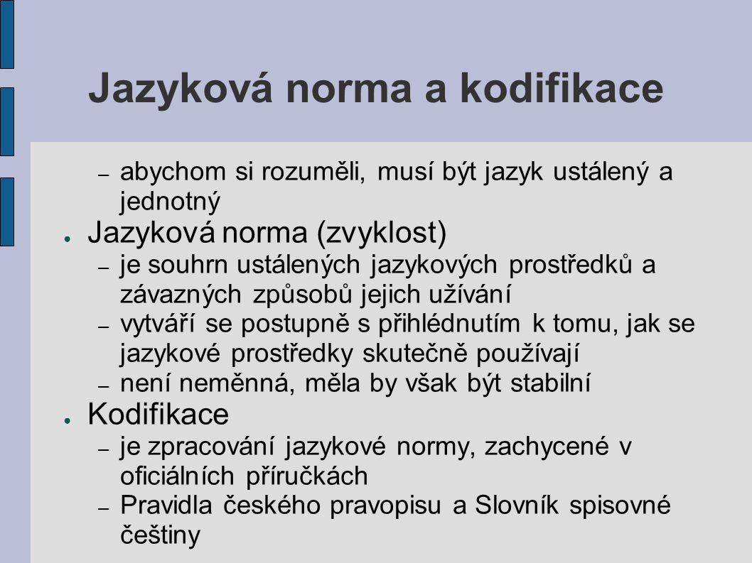 Jazyková norma a kodifikace