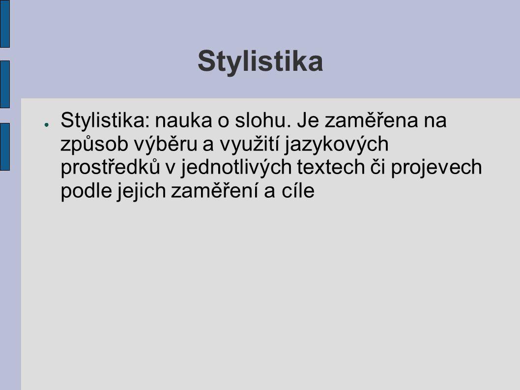 Stylistika
