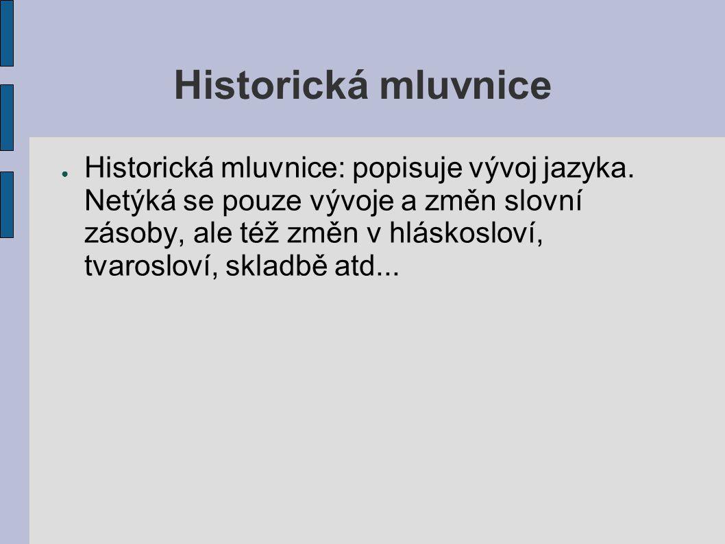 Historická mluvnice