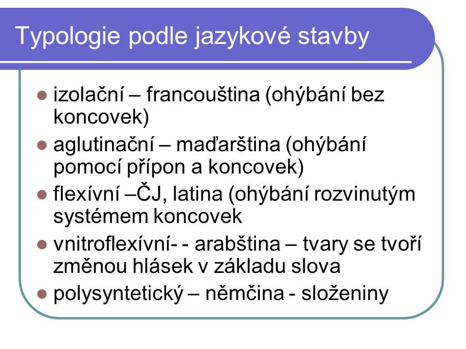 Typologie podle jazykové stavby