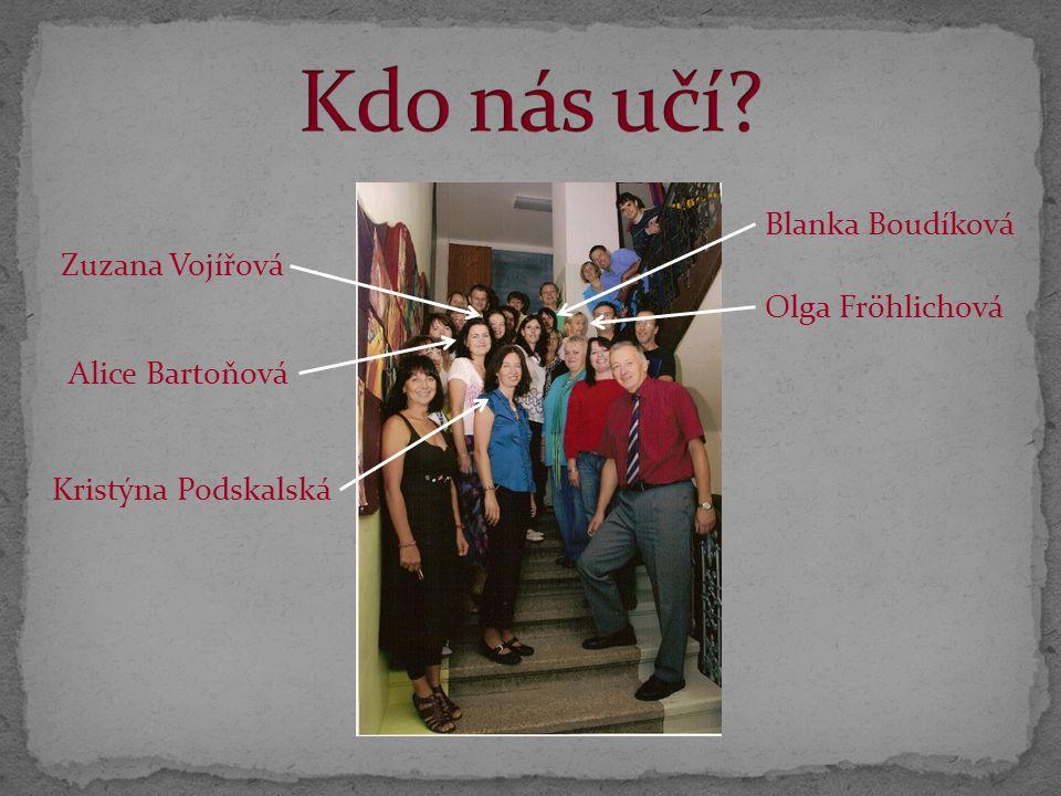 Kdo nás učí Blanka Boudíková Zuzana Vojířová Olga Fröhlichová