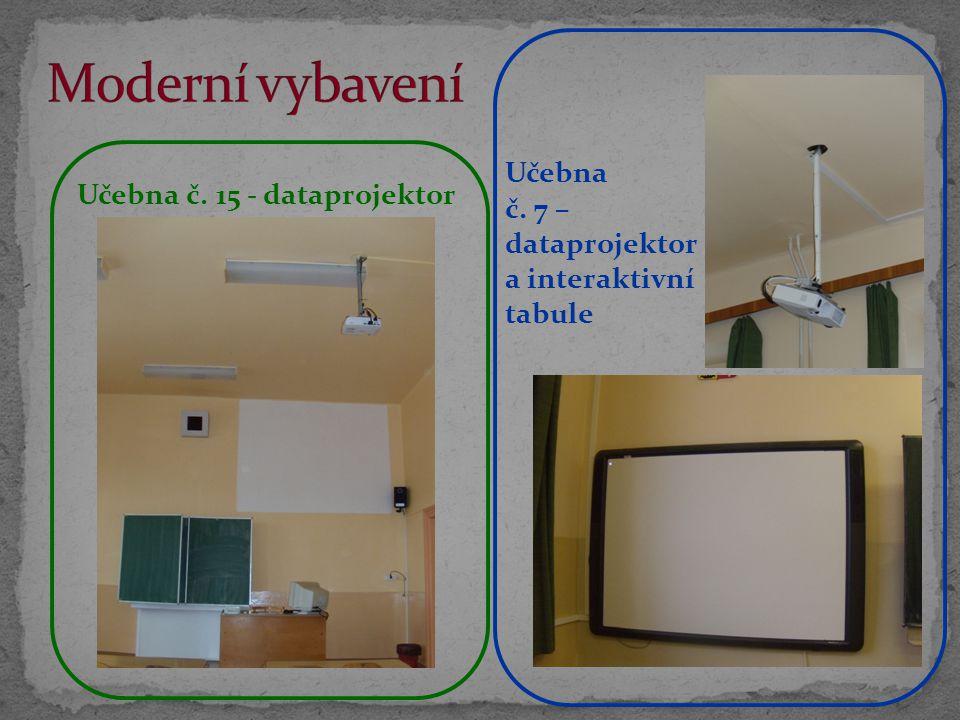 Moderní vybavení Učebna č. 7 – dataprojektor a interaktivní tabule