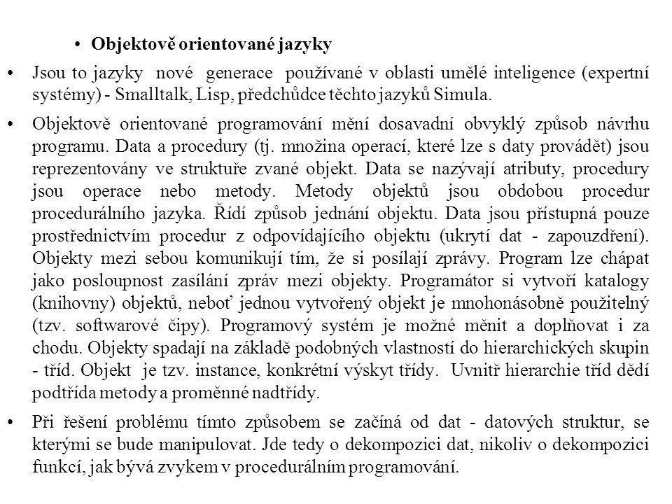 Objektově orientované jazyky