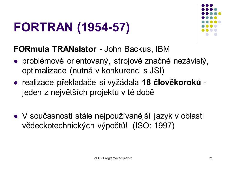 ZPP - Programovací jazyky