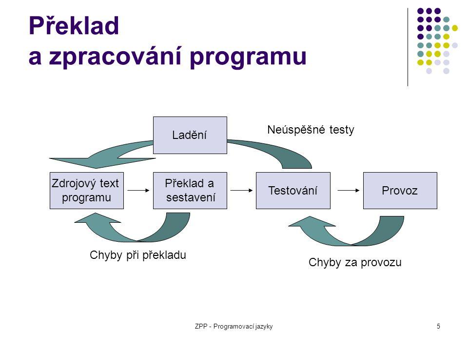 Překlad a zpracování programu