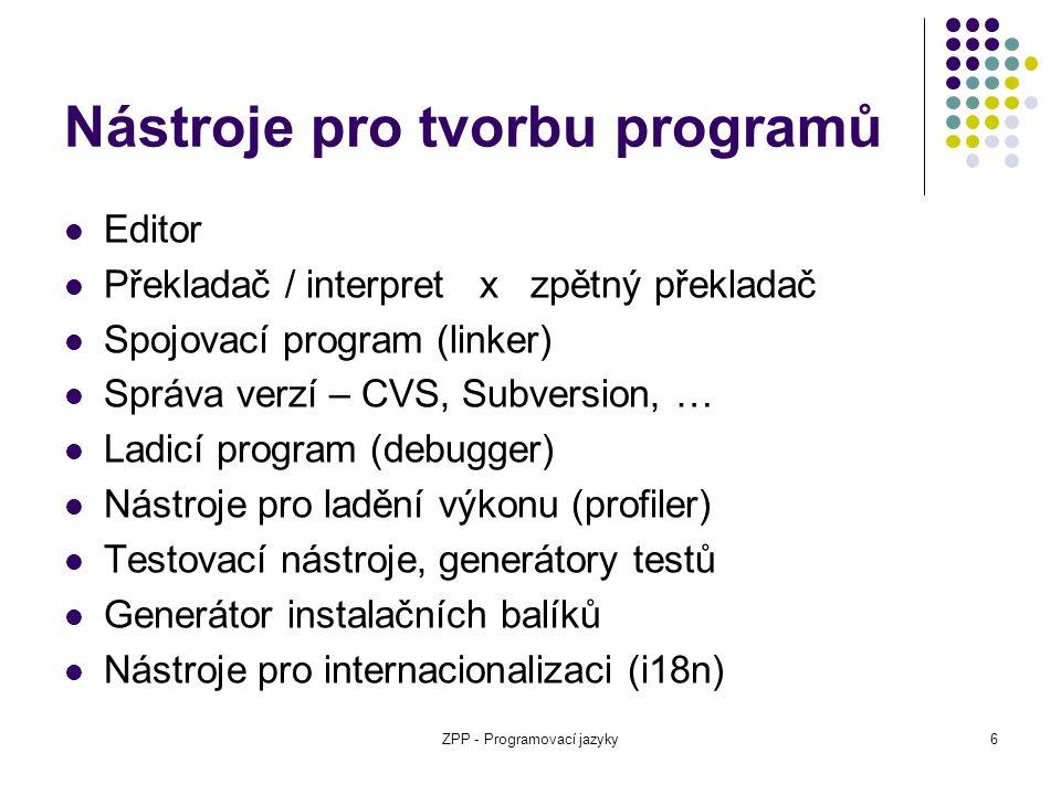 Nástroje pro tvorbu programů