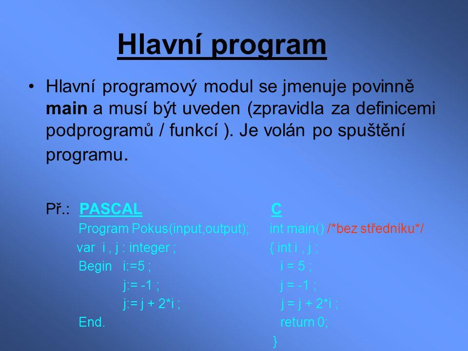 Hlavní program