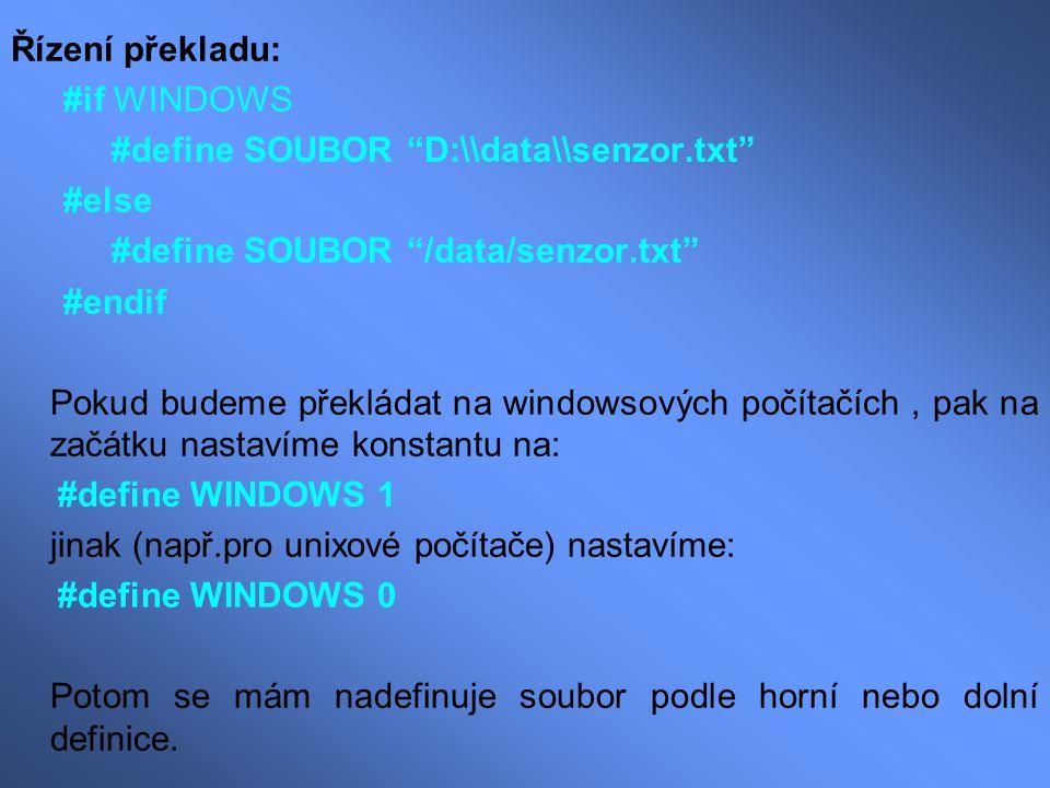 #define SOUBOR D:\\data\\senzor.txt #else