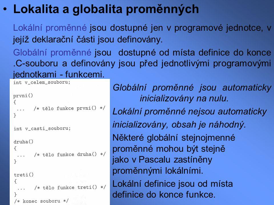 Lokalita a globalita proměnných