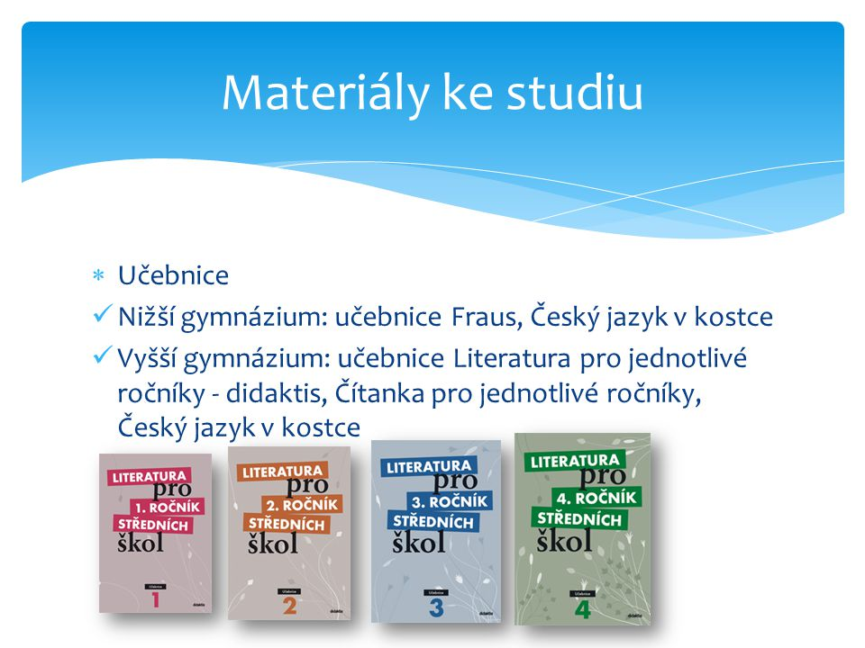 Materiály ke studiu Učebnice