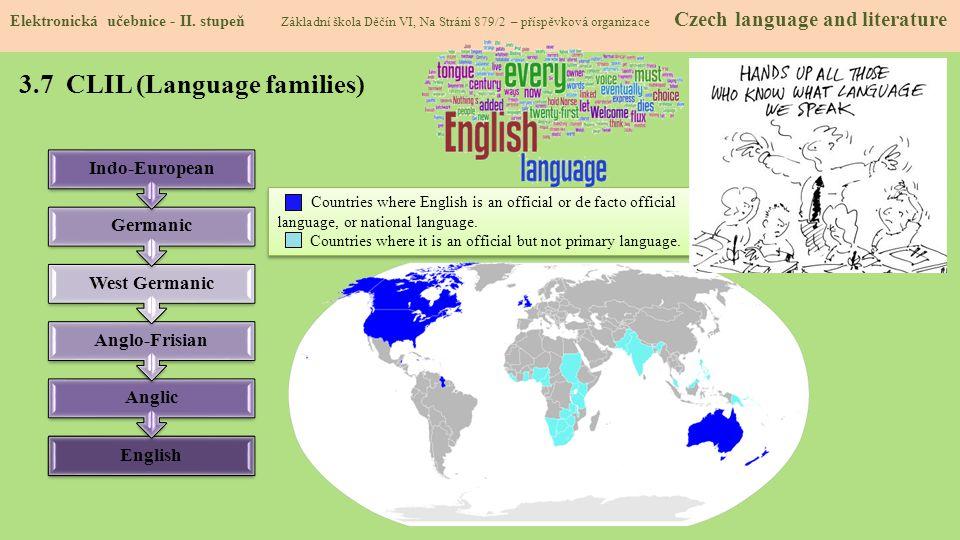 3.7 CLIL (Language families)