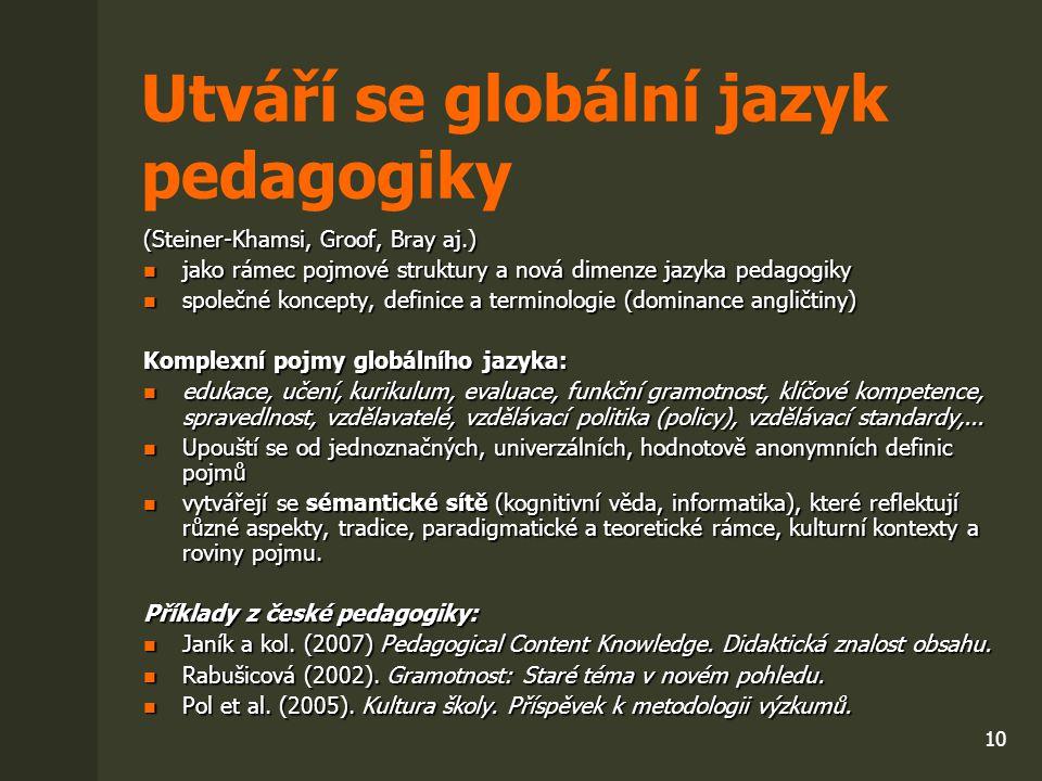Utváří se globální jazyk pedagogiky