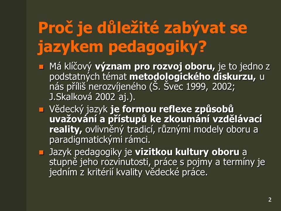 Proč je důležité zabývat se jazykem pedagogiky