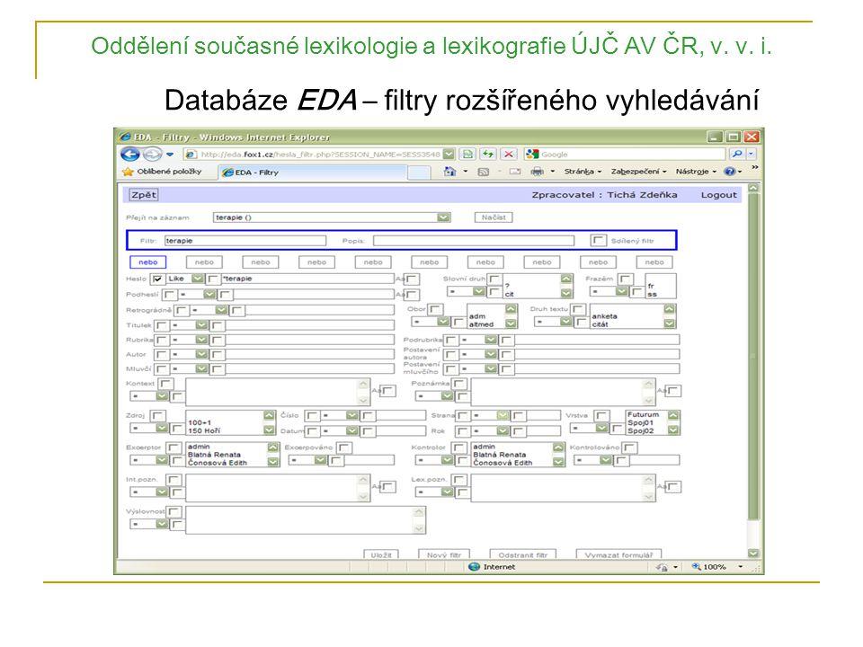 Oddělení současné lexikologie a lexikografie ÚJČ AV ČR, v. v. i
