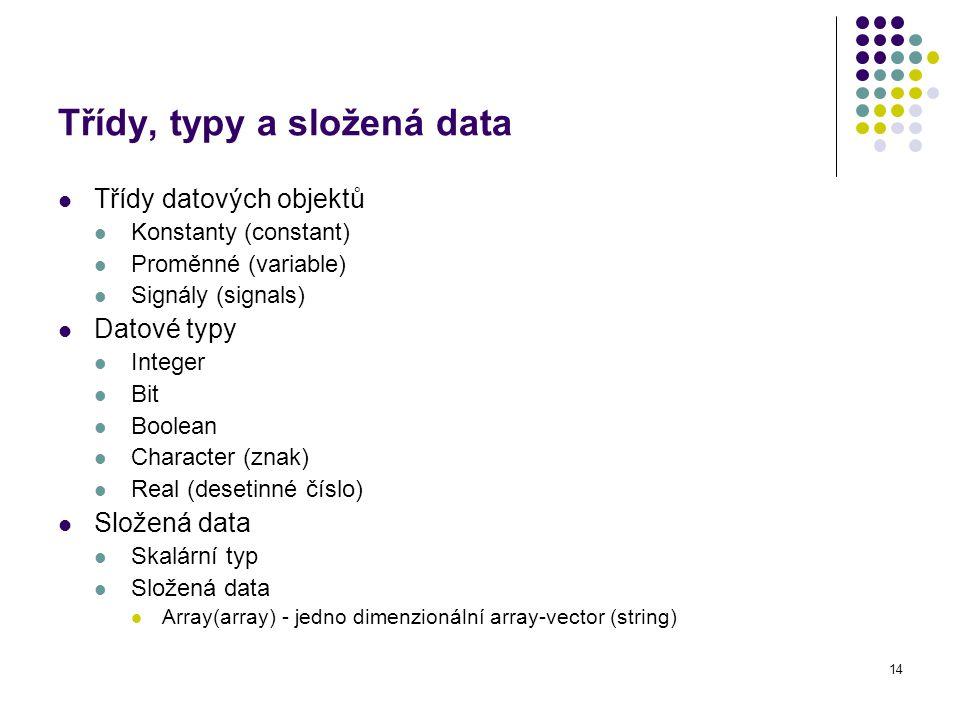 Třídy, typy a složená data