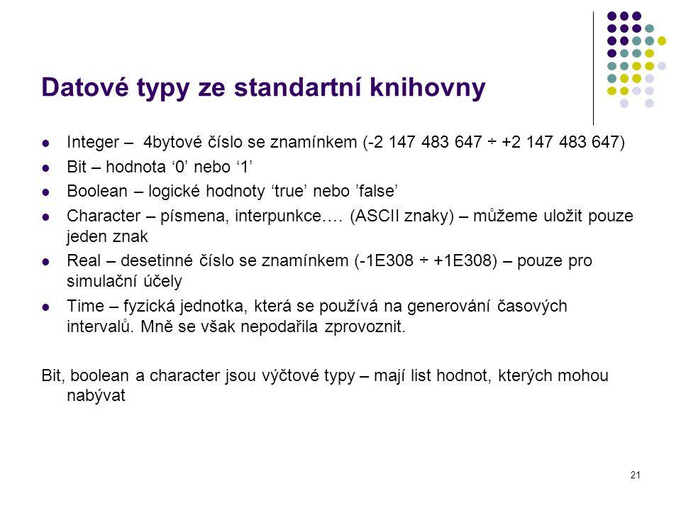 Datové typy ze standartní knihovny