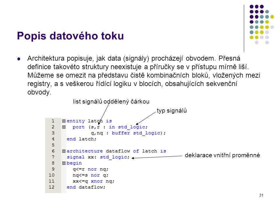 Popis datového toku