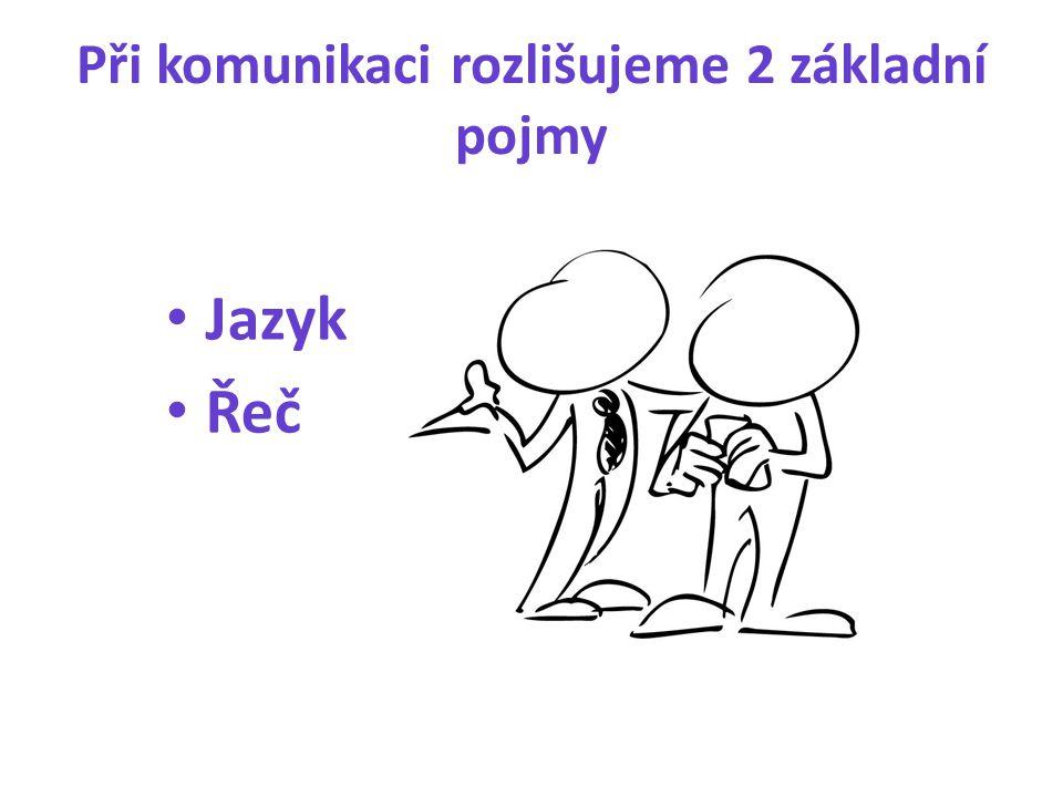 Při komunikaci rozlišujeme 2 základní pojmy