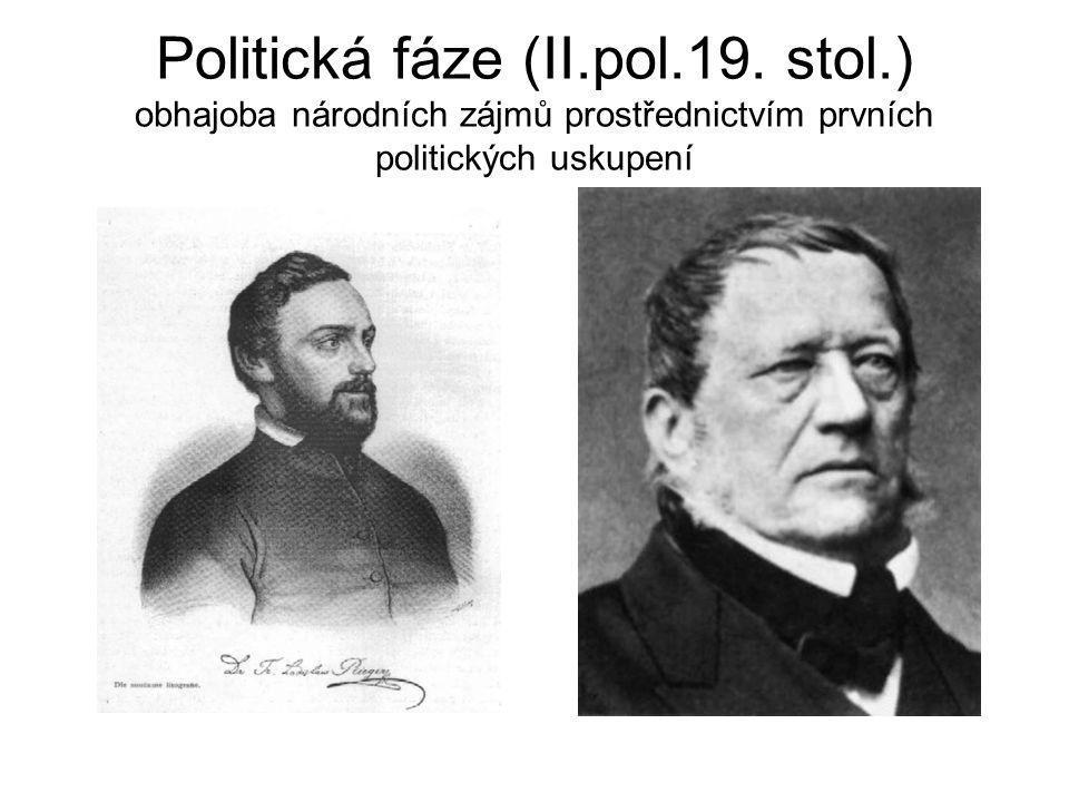 Politická fáze (II. pol. 19. stol