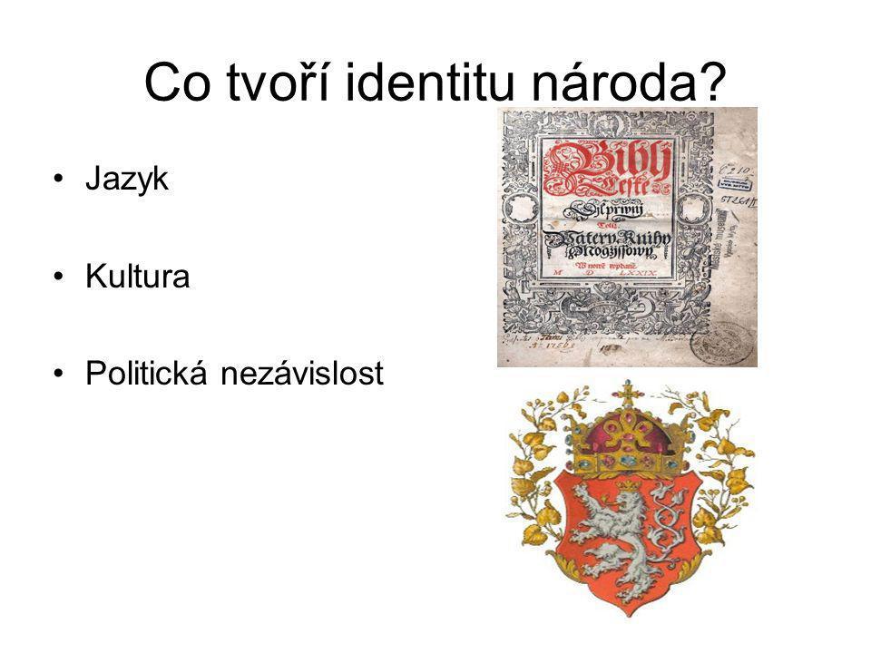 Co tvoří identitu národa