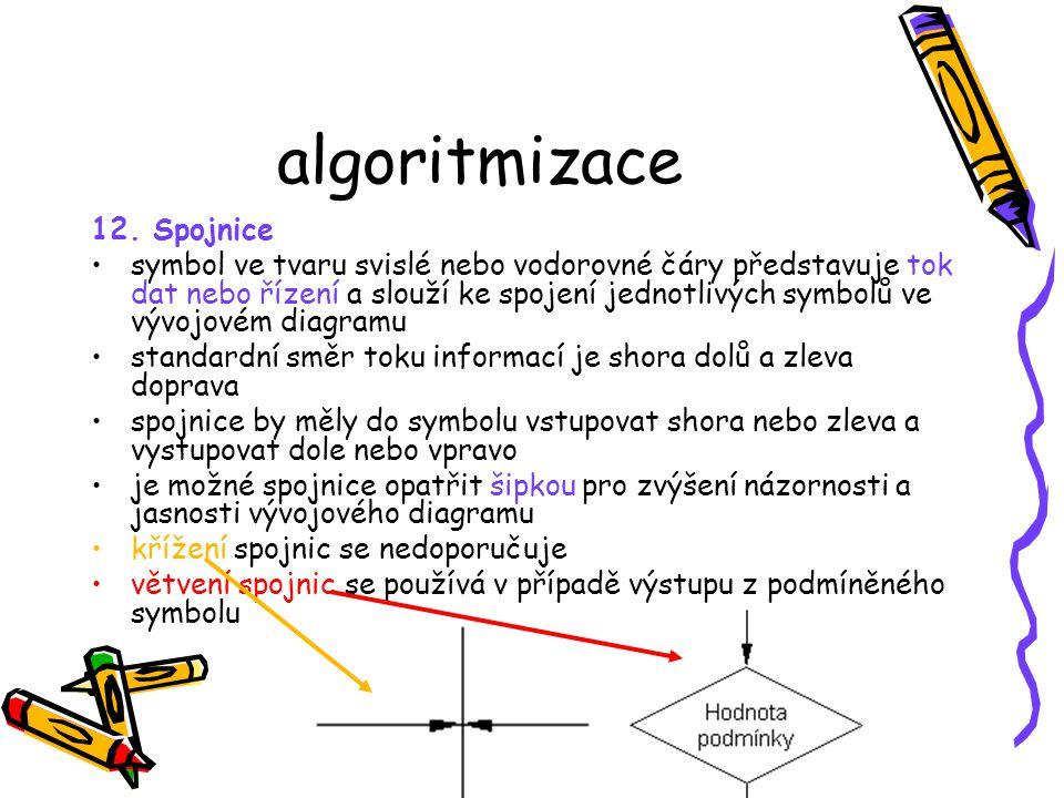 algoritmizace 12. Spojnice