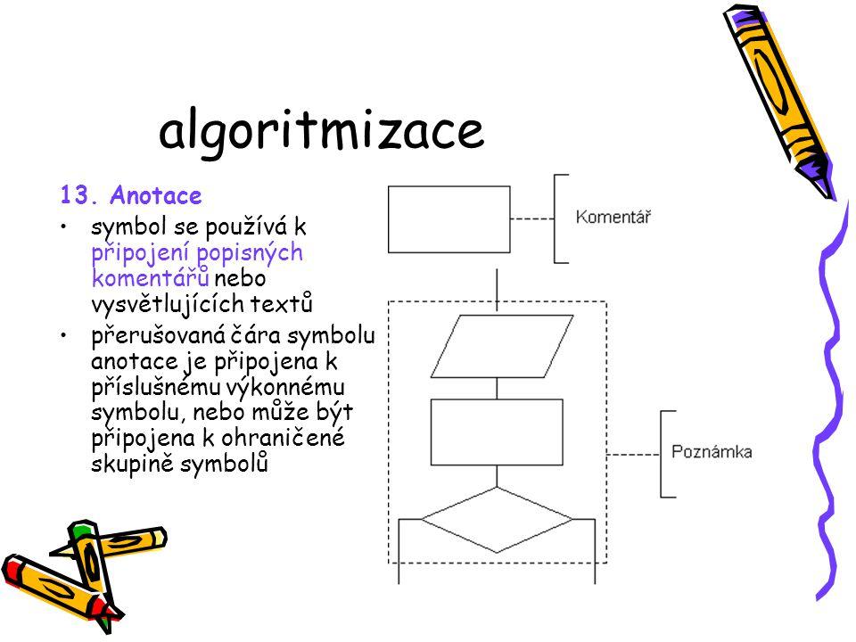 algoritmizace 13. Anotace