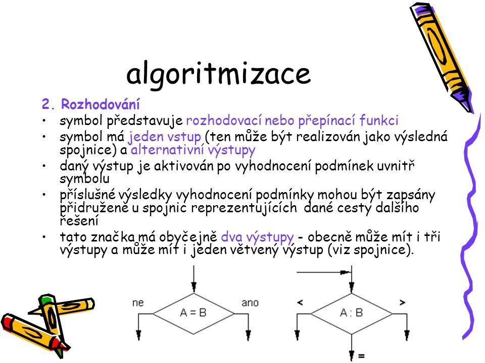 algoritmizace 2. Rozhodování