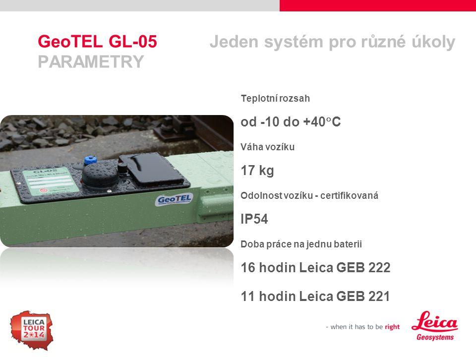 GeoTEL GL-05 Jeden systém pro různé úkoly PARAMETRY