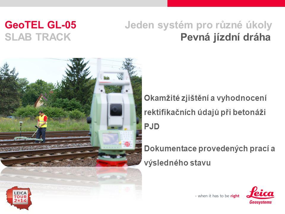 GeoTEL GL-05 Jeden systém pro různé úkoly SLAB TRACK Pevná jízdní dráha