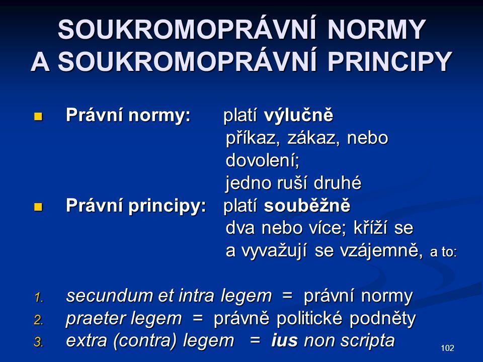SOUKROMOPRÁVNÍ NORMY A SOUKROMOPRÁVNÍ PRINCIPY