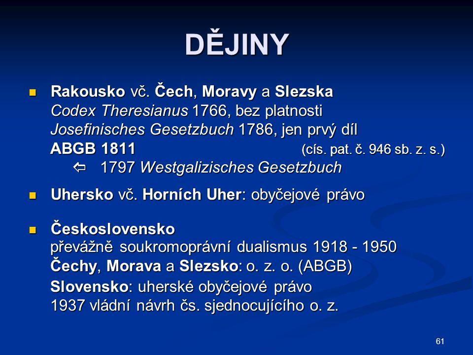 DĚJINY Rakousko vč. Čech, Moravy a Slezska
