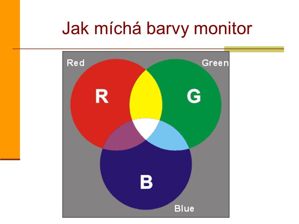 Jak míchá barvy monitor