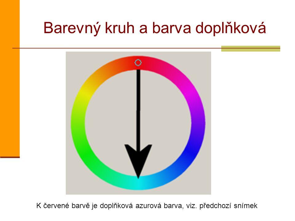 Barevný kruh a barva doplňková