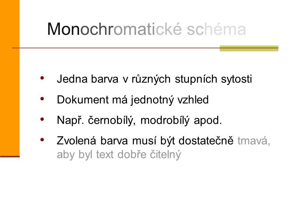 Monochromatické schéma