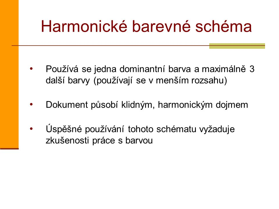 Harmonické barevné schéma