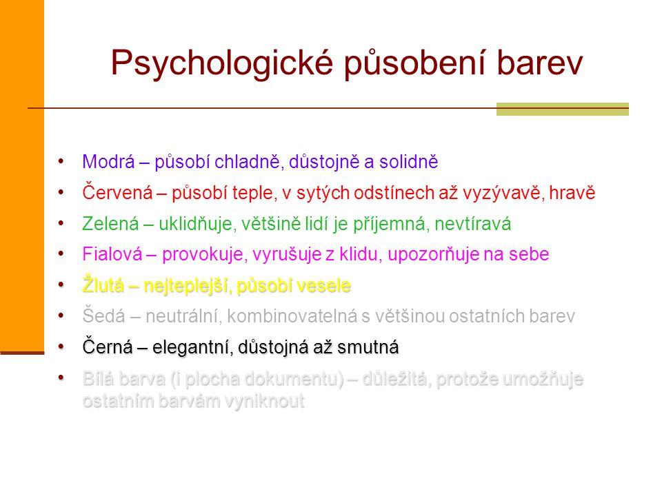 Psychologické působení barev
